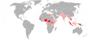 Zika virus distribution: 2016 via Wikimedia commons