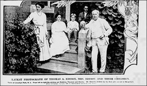 Thomas Edison (right) and his family. Credit: Blendspace.