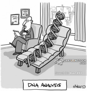 "Funny image of ""DNA Analysis"". Source: Cartoon Stock."