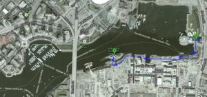 Path to Habitat Island from Science World (Google Maps)